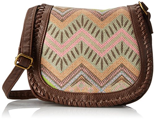 T-Shirt & Jeans Printed Mini Saddle Cross Body Bag, Brown, One Size