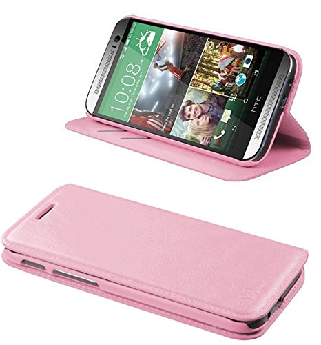 Mylife Piggy Pink {Slim Design} Faux Leather (Card, Cash And Id Holder + Magnetic Closing) Slim Wallet For The All-New Htc One M8 Android Smartphone - Aka, 2Nd Gen Htc One (External Textured Synthetic Leather With Magnetic Clip + Internal Secure Snap In H