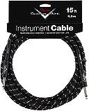 Accessoires guitares FENDER CUSTOM SHOP CABLE POUR INSTRUMENT 4M50 TWEED NOIR Cables instrument