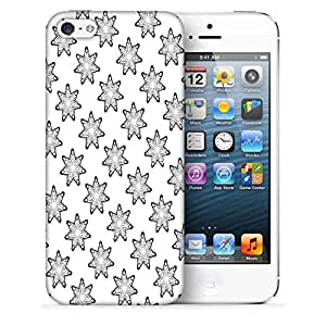 Snoogg Grey Stars Printed Protective Phone Back Case Cover For Apple Iphone 5 / 5S