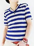 (アーケード) ARCADE 22color さらりと涼しく着れるリネンニットソー/麻混VネックTシャツ/無地/ボーダー