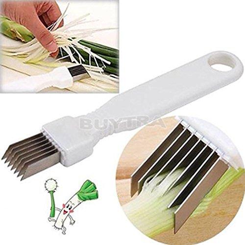 ensunpal store Tool Slice Cutlery Kitchen Onion Vegetable Cutter Sharp Scallion Cutter Shred
