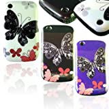 NEW STYLISH BUTTERFLY PRINT PURPLE HARD BACK CASE COVER FOR BLACKBERRY CURVE 8520 9300