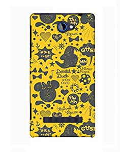 Pick Pattern with Exclusive DISNEY Characters Back Cover for HTC Windows Phone 8S
