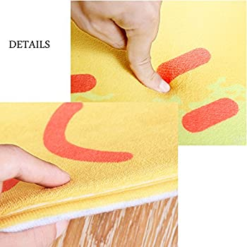 CHOOLD Cute Fruit Shaped Bedroom Area Rug Carpet Non-Slip Absorbent Indoor Outdoor Doormat for Living Room Kitchen Bathroom,Pineapple
