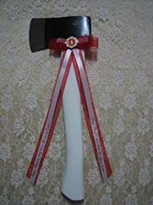 buy Wedding Parrty Reception Cermony Fireman White Axe Cutting Cake