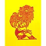Lion Dance, Chinese Papercut (Print On Demand)
