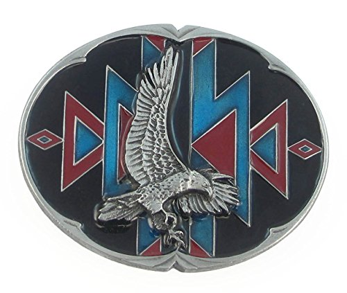 Pewter Belt Buckle - Southwestern Eagle Belt Buckle - Pewter Belt Buckle