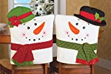 Snowman Kitchen Chairs Cover Decoration - Set Of 2