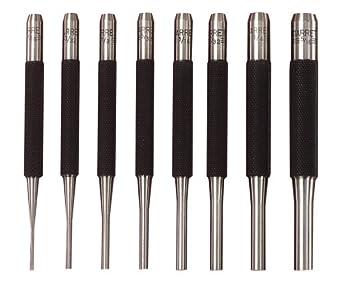 Starrett S565PC Drive Pin Punch Set (8 Pieces)