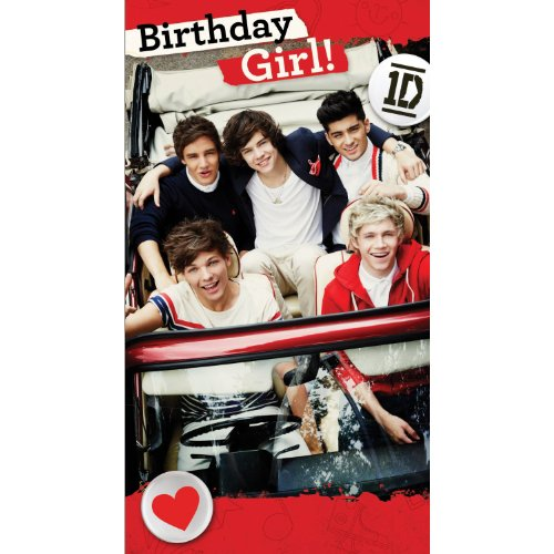 Official One Direction 1d Birthday Card With Sticker Sheet By