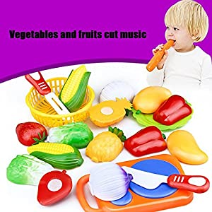 Leegor Newness 12PC Cutting Fruit Vegetable Pretend Play Children Kid Educational Toy Christmas Gift