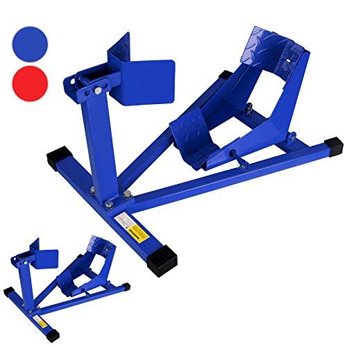 Timbertech Set cavalletti alza auto coppia solleva auto in acciaio colore blu set da 2