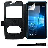 4in1 Smart Cover in Schwarz für - Microsoft Lumia 650 /
