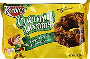 Fudge Shoppe Cookies, Coconut Dreams, 8.5-Ounce Packages (Pack of 4)