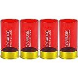 12 Gauge Shotgun Shell Shot Glasses, Red, Set of 4