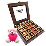 Valentine Chocholik Premium Gifts - Magical Heart Chocolates With Teddy