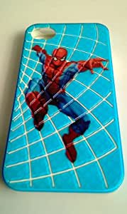 Stylishly! Hard Case Cover for iPhone 4 4s 4g 3d Blue Spiderman Pattern Skin Design