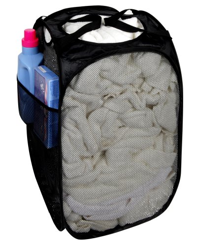 Pro-Mart DAZZ Deluxe Pop-Up Hamper, Rectangle, Black (Laundry Hamper Portable compare prices)