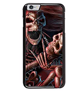 Printvisa Skeleton Playing A Scary Guitar Back Case Cover for Apple iPhone 6 Plus