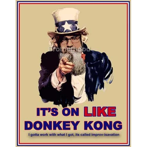 Amazon com uncle sam amp uncle si it s on like donkey kong poster