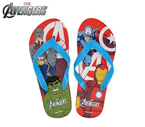 MW92268 Ciabatte infradito in gomma per bambino The Avengers. MWS (29/30, Rosso)