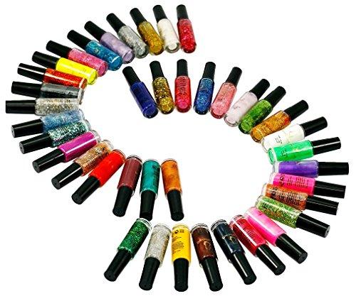 40 Couleur Vernis A l'Ongles Pinceau Stylo Liner Peinture Manucure Nail Art Tip Couleur 10ml