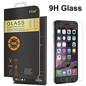 iPhone 6S Screen Protector,[4.7]by Ailun,3D Touch Compatible,9H Hardness&2.5D Curved Edge Tempered Glass,Ultra Clear,Anti-Scratch,Bubble Free,Anti-Fingerprints&Oil Stains Coating-Siania Retail Package from Siania