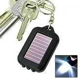 Jackie Emergency 3 LED Torch Flashlight Key Fob Solar Energy Power Keychain Lamp Light