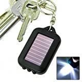 SODIAL(TM) Solar-powered LED Flashlight w/ Keychain