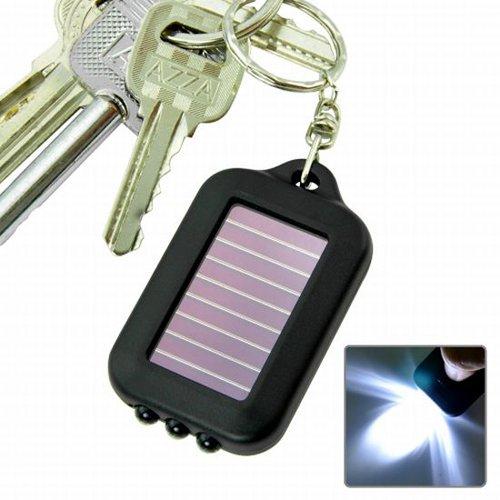 SODIAL(TM) Solar-powered LED Flashlight w/ Keychain