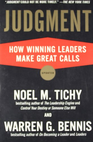 Judgment: How Winning Leaders Make Great Calls (Making The Call compare prices)