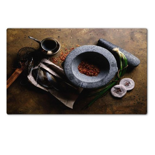 Mortar Spice Grinder Cooking Meal Table Mats Customized Made To Order Support Ready 28 6/16 Inch (720Mm) X 17 11/16 Inch (450Mm) X 1/8 Inch (4Mm) High Quality Eco Friendly Cloth With Neoprene Rubber Luxlady Large Deskmat Desktop Mousepad Laptop Mousepads front-612655
