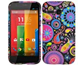 Juju Village Swirls Polka Dot Jelly Fish Gel Case Cover Skin For Motorola Moto G With Screen Protector & Stylus