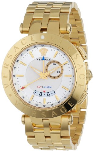Versace Men's 29G70D001 S070 V-Race Round Stainless