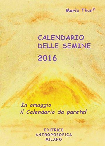 Calendario delle semine 2016 PDF