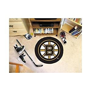 FANMATS NHL Boston Bruins Nylon Face Hockey Puck Rug by Fanmats