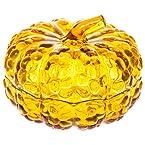Glass Pumpkin Candy Dish