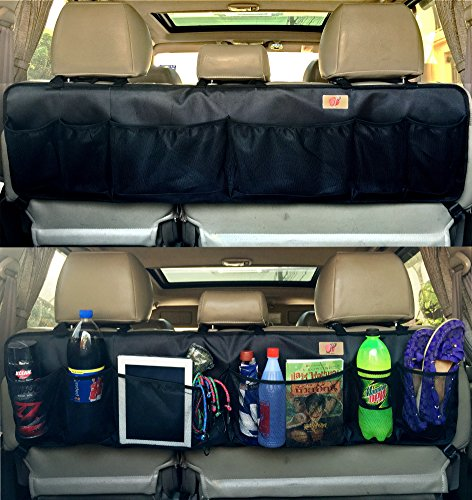 P&F High Quality Products Car Trunk Organizer with 3 Headrest Strap - Super Long Life - Never Hung Down