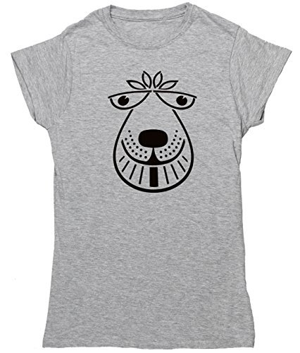 HippoWarehouse SPACE HOPPER womens fitted short sleeve t-shirt