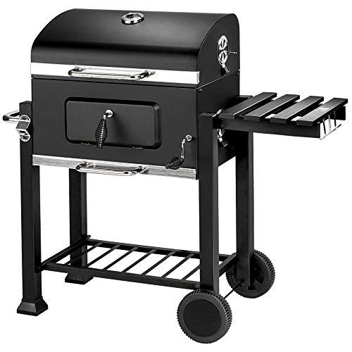 TecTake BBQ Griglia a carbonella barbecue smoker (lungh. x largh. x h): 115 x 65 x 107 cm | Termometro integrato