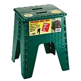 "B & R Plastics 152-6FG E-Z Foldz Forest Green 15"" 'Neat Seat' Step Stool/Seat"