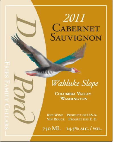 2011 Duck Pond Cellars Cabernet Sauvignon Columbia Valley Desert Wind Vineyard 750 Ml