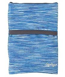Banjees Phone Wrist Wallet - Large - 2 Pockets - Blue Melange