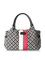 Kate Spade Women's Classic Stevie Tote Bag, Black/Cream, One Size