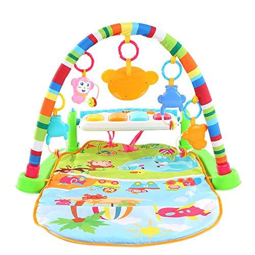 Goolsky Multifunzionale a calci e giocando palestra pianoforte pianoforte palestra Body-building con luci lampeggianti per bambini Baby bambini intelligenza giocattolo educativo