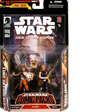 Star Wars Comic Packs #10 with Heir to the Empire Comic #5 and Luke Skywalker and Mara Jade Action Figures (Mara Jade Figure compare prices)