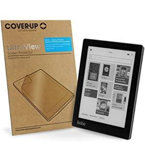 Cover-Up UltraView Kobo Aura eReader Anti-Glare Matte Screen Protector (Not suitable for Kobo Aura HD) at Electronic-Readers.com