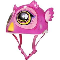 Raskullz Big Eyes Owl Miniz Helmet, Pink by Raskullz