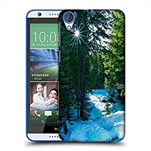 Snoogg Snow In Forest Designer Protective Phone Back Case Cover For HTC Desire 820